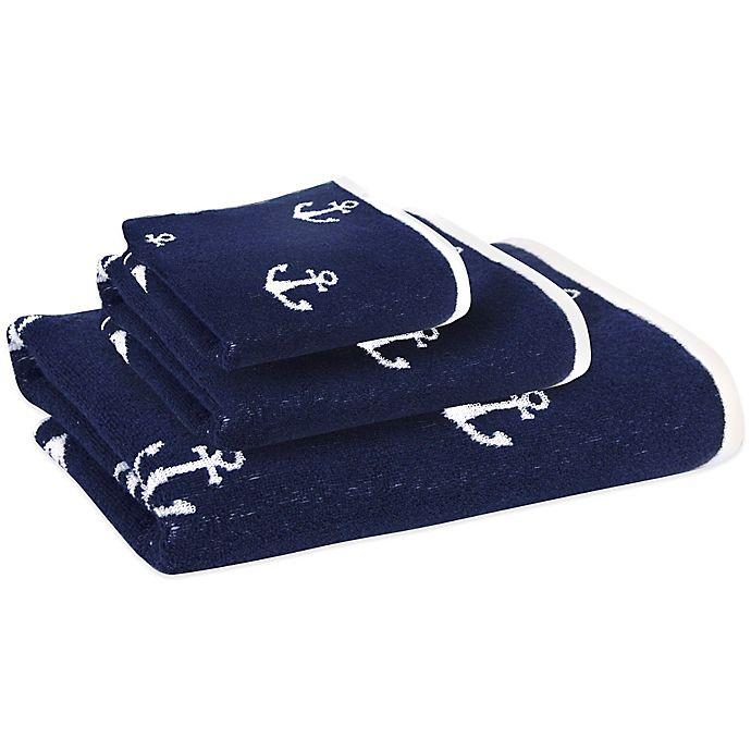 Lamont Home Bathroom Anchors Blue and White Bath Rug