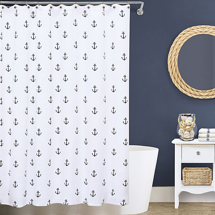 Alternate image 1 for Lamont Home® Anchors 72-Inch x 96-Inch Matelassé Shower Curtain