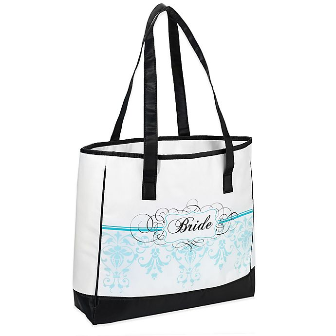 Alternate image 1 for Lillian Rose™ Bride Tote Bag in Aqua