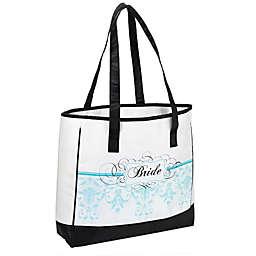 Lillian Rose™ Bride Tote Bag in Aqua