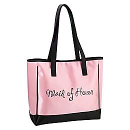 Lillian Rose™ Maid of Honor Tote Bag in Pink/Black