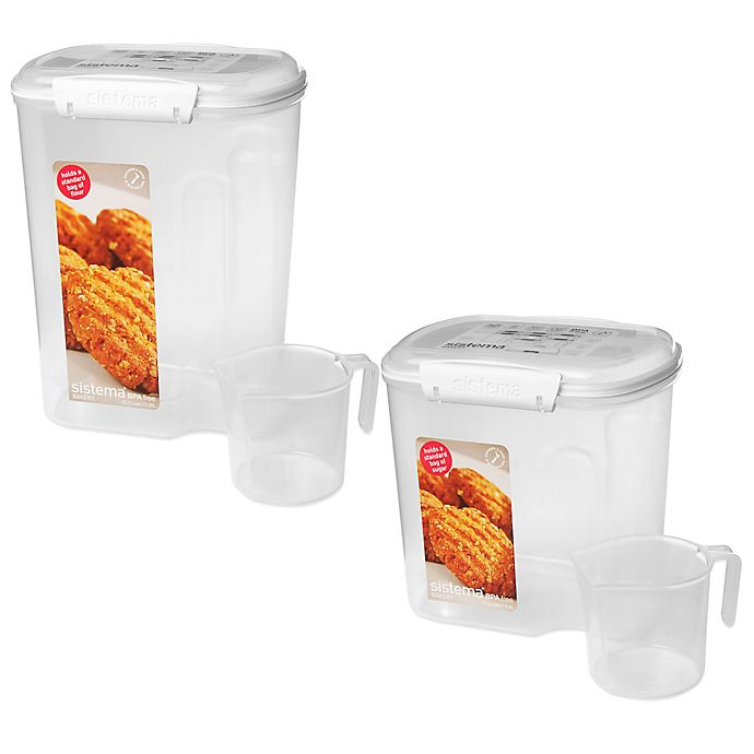 Alternate image 1 for Sistema® Sugar & Flour Container