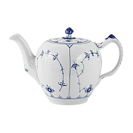 Royal Copenhagen Fluted Plain 32 oz. Teapot in Blue