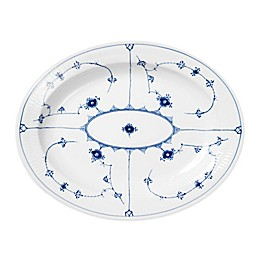 Royal Copenhagen Fluted Plain 14.25-Inch Oval Platter in Blue
