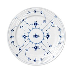 Royal Copenhagen Fluted Plain Salad Plate in Blue