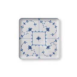 Royal Copenhagen Fluted Plain Square Plate in Blue