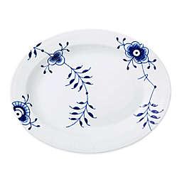 Royal Copenhagen Fluted Mega 14.25-Inch Oval Platter in Blue