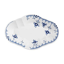 Royal Copenhagen Elements Oval Accent Plate in Blue