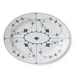 Royal Copenhagen Fluted Plain 12-Inch Oval Platter in Blue