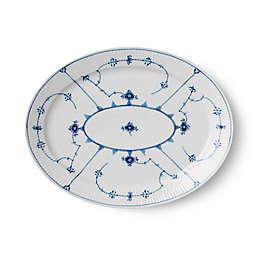 Royal Copenhagen Fluted Plain 13.5-Inch Oval Platter in Blue