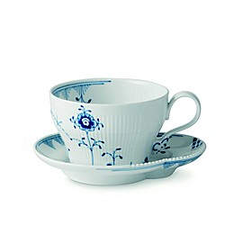 Royal Copenhagen Elements Teacup and Saucer in Blue