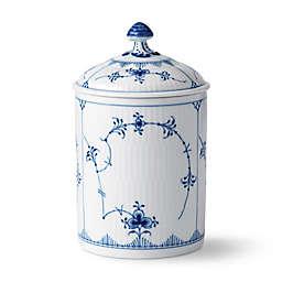 Royal Copenhagen Fluted Plain Jar with Lid in Blue