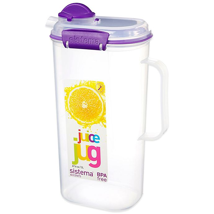 Alternate image 1 for Sistema® KLIP IT™ 8-Cup Accents Juice Jug