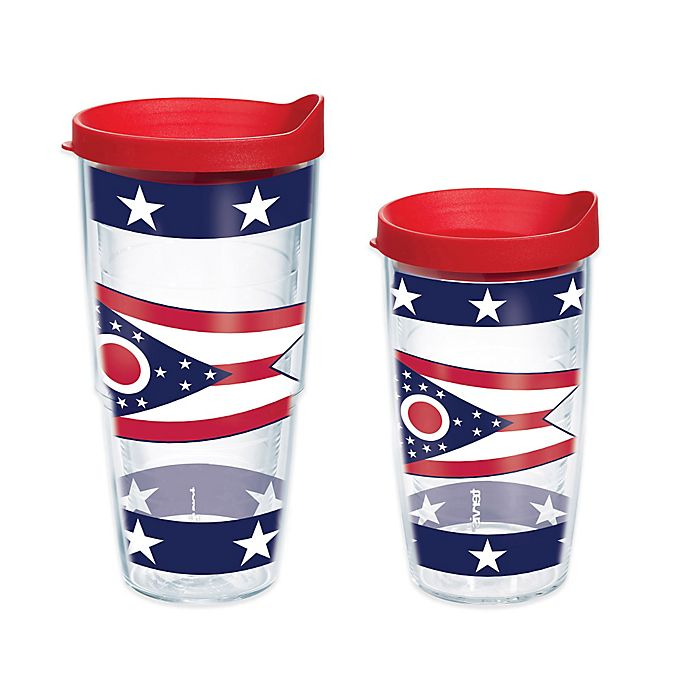 Alternate image 1 for Tervis® Ohio State Flag Wrap Tumbler with Lid