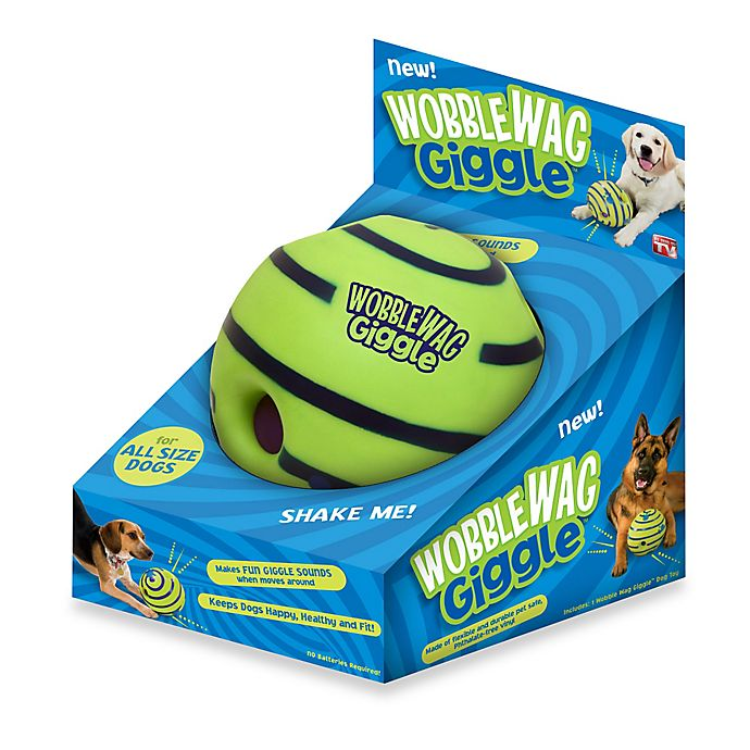 Alternate image 1 for Wobble Wag Giggle™ Ball Dog Toy in Green