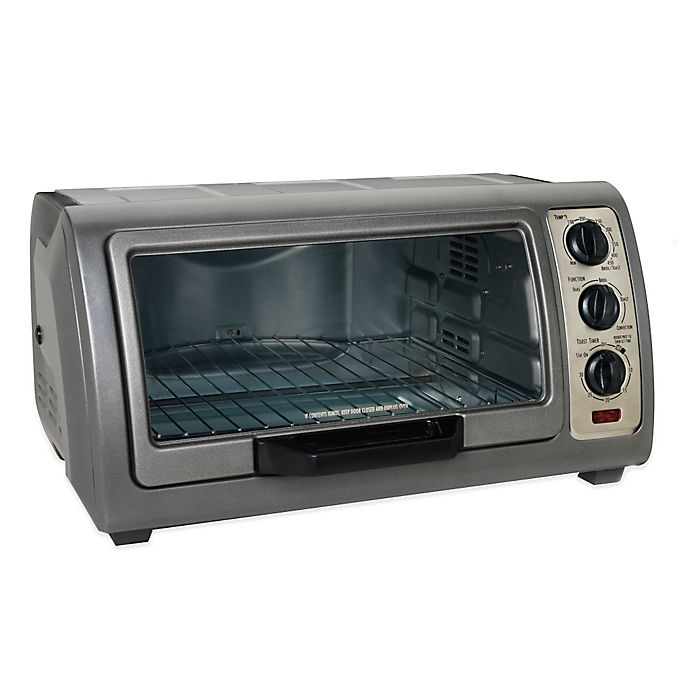 Hamilton beach 6 slice easy reach convection oven bed - Cool touch exterior convection toaster oven ...