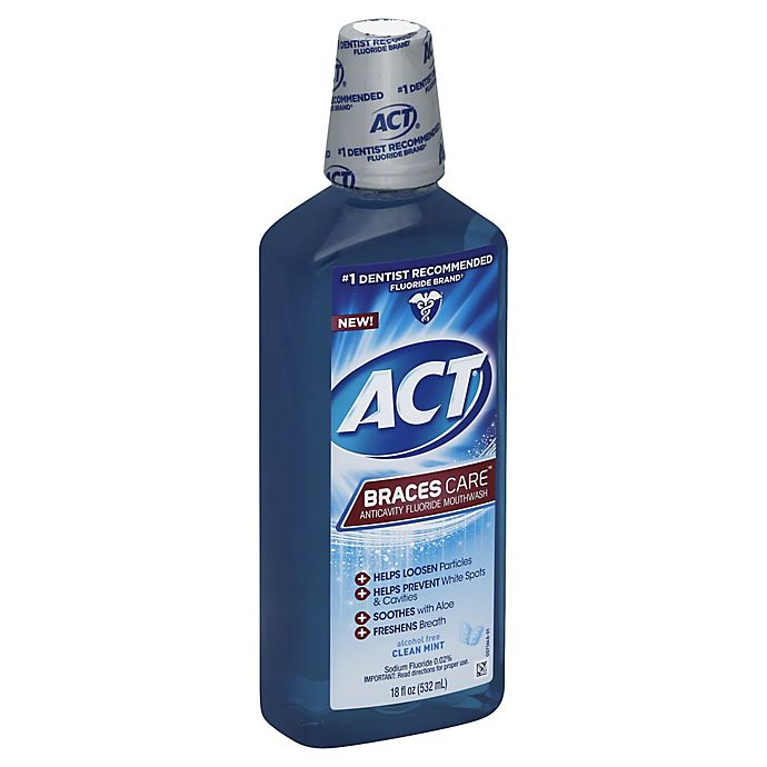 Alternate image 1 for ACT® 18 oz. Braces Care™ Mouthwash in Clean Mint