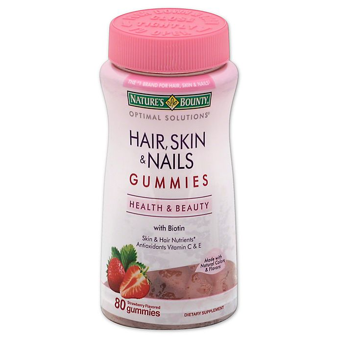 Alternate image 1 for Nature's Bounty® Optimal Solutions® 80-Count Hair, Skin and Nails Gummies