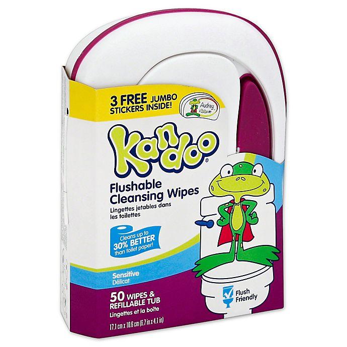 Alternate image 1 for Pampers® Kandoo® 50-Count Sensitive Skin Flushable Wipes