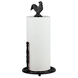 Home Basics® Rooster Paper Towel Holder in Black