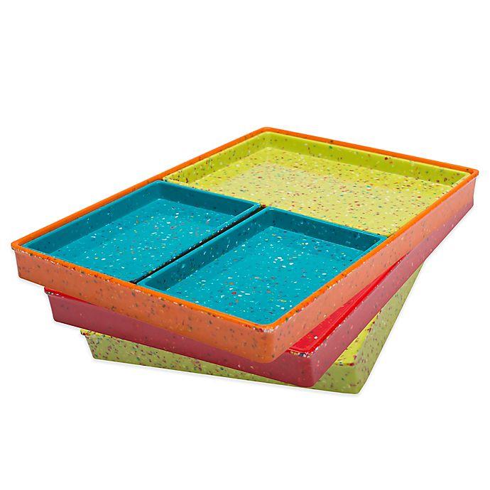 Alternate image 1 for Zak! Designs® Confetti Modular 4-Piece Serving Tray Set