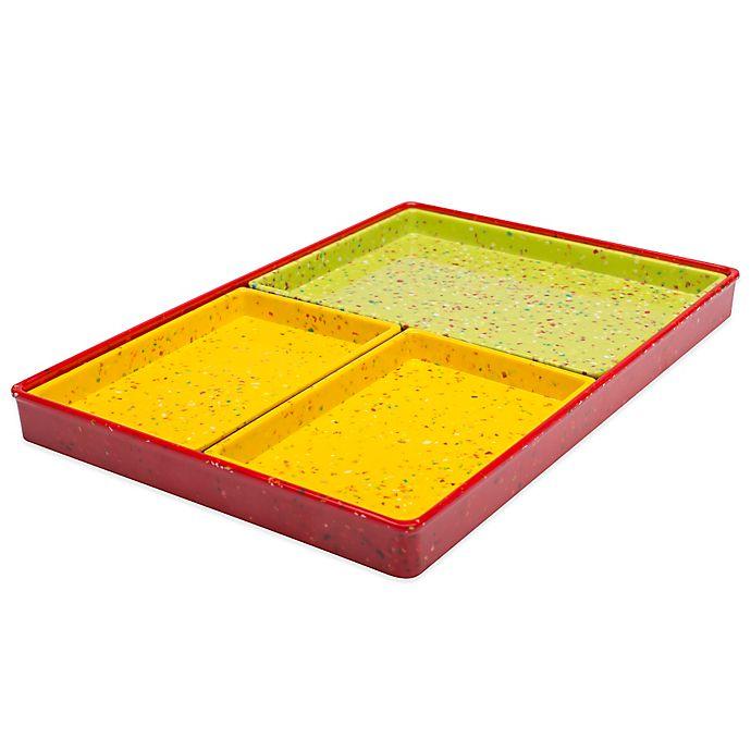 Zak Designs 174 Confetti Modular 4 Piece Serving Tray Set