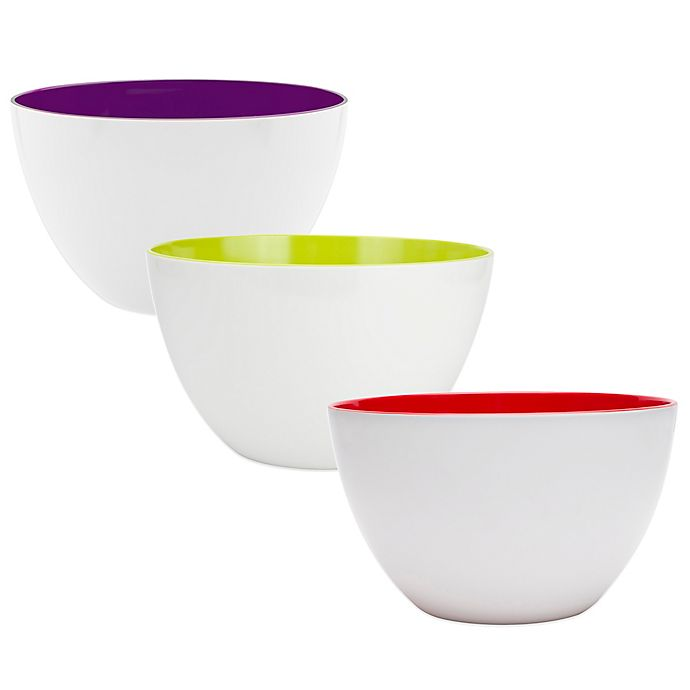 Alternate image 1 for Zak! Designs®  7.75 Qt. Two-Tone Duo Serving Bowl