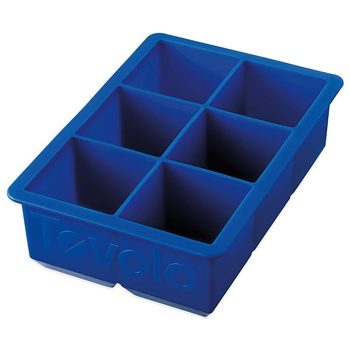 Alternate image 1 for Tovolo® King Cube Silicone Ice Tray in Stratus Blue