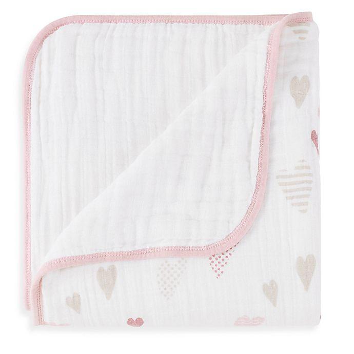 Alternate image 1 for aden + anais® Classic Dream Blanket in Heartbreaker
