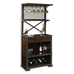 Howard Miller Red Mountain Wine & Bar Cabinet in Rustic Hardwood