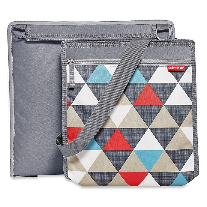 Skip Hop Central Park Outdoor Blanket Cooler Bag In Triangles