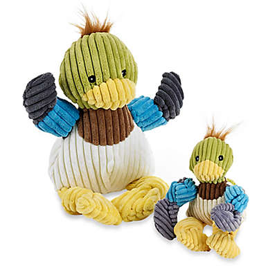 HuggleHounds Knotties Duck Dog Toy