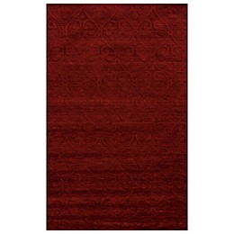 Rizzy Home Technique Scroll Area Rug in Red