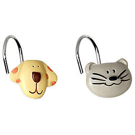 Raining Cats And Dogs Shower Curtain Hooks Set Of 12