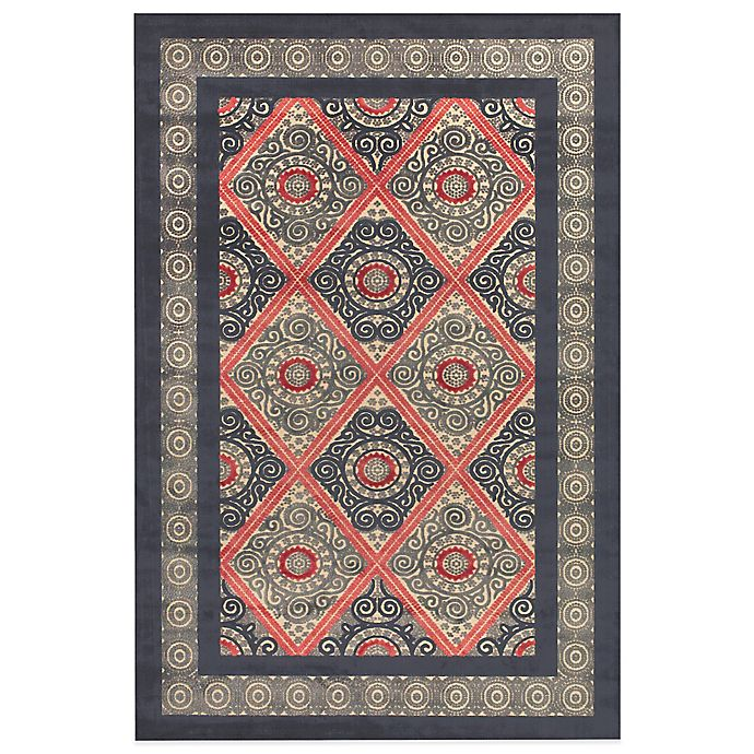 Alternate image 1 for Feizy Saphir Obzeet Circle Border Rugs in Cream/Charcoal