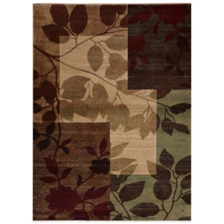 Tribeca Heat Set Floral 5 Foot 3 Inch X 7 Foot 2 Inch Area