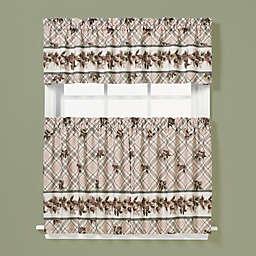 Pinecone Window Curtain Tier Pair in Plaid