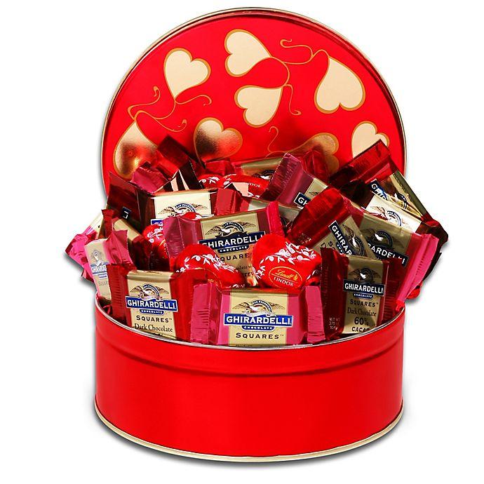 Alternate image 1 for Ghirardelli Tin of Valentine Squares