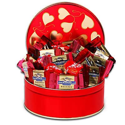 Ghirardelli Tin of Valentine Squares