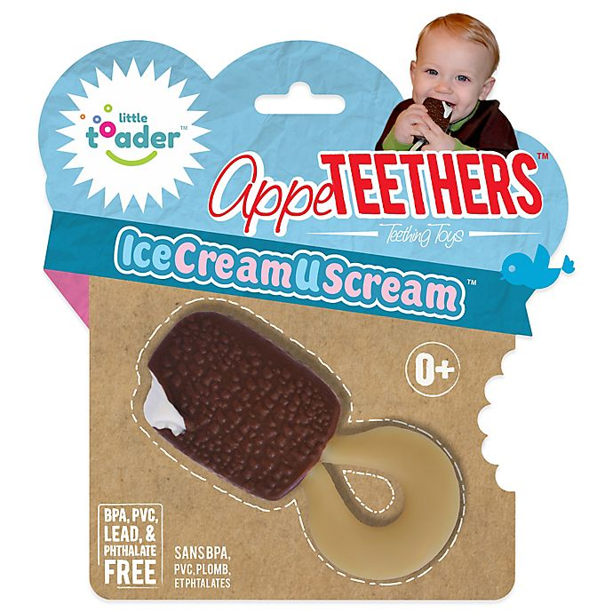 Alternate image 1 for Little Toader™ AppeTEETHERS™ Ice Cream U Scream™  in Chocolate