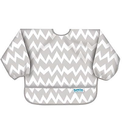Bumkins® Chevron Long Sleeve Bib in Grey/White