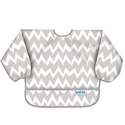 Bumkins® Chevron Long Sleeve Bib in Grey/White