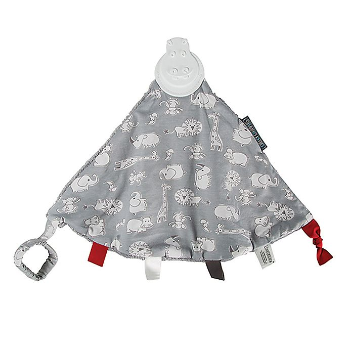 Alternate image 1 for Cheeky Chompers® Comfortchew® Chewy & Co 2-in-1 Teether Blanket in Grey