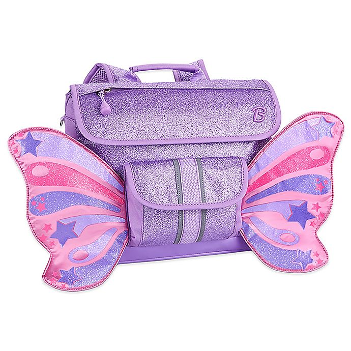 Alternate image 1 for Bixbee Sparkalicious Butterflyer Backpack in Purple