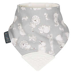 Cheeky Chompers® Neckerchew® Chewy and Co 2-in-1 Teething Bandana Bib in Grey/Cream