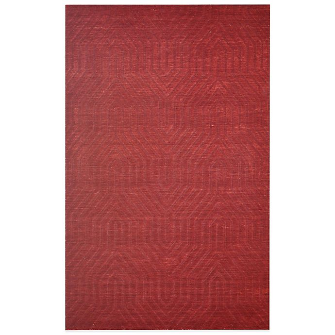 Alternate image 1 for Rizzy Home Technique Geometric 2-Foot 6-Inch x 8-Foot Area Rug in Burgundy