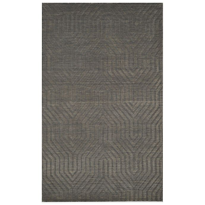 Alternate image 1 for Rizzy Home Technique Geometric 2-Foot 6-Inch x 8-Foot Area Rug in Light Grey