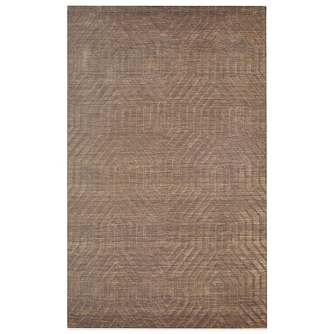 Alternate image 1 for Rizzy Home Technique Geometric 2-Foot 6-Inch x 8-Foot Area Rug in Brown
