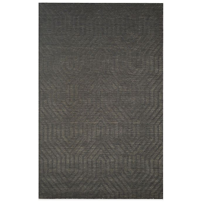 Alternate image 1 for Rizzy Home Technique Geometric 3-Foot x 5-Foot Area Rug in Grey