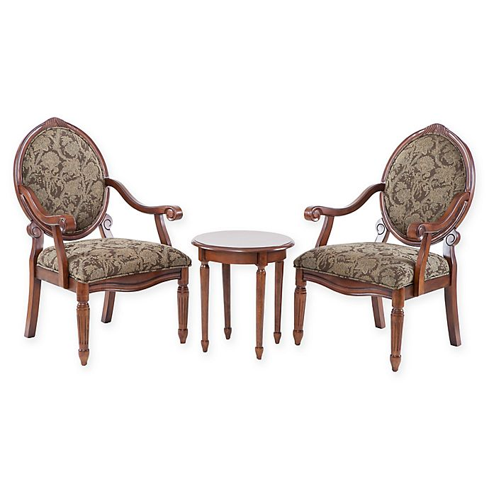 Alternate image 1 for Madison Park 3-Piece Brentwood Arm Chairs and Table Set